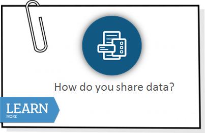How do you share data?